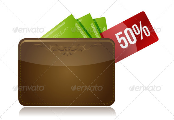 PhotoDune Wallet with a percentage discount label 3944057