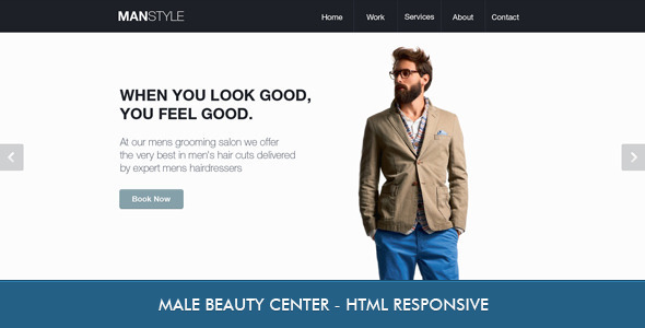 Men&#x27;s Hair Salon - Beauty - Miscellaneous Site Templates
