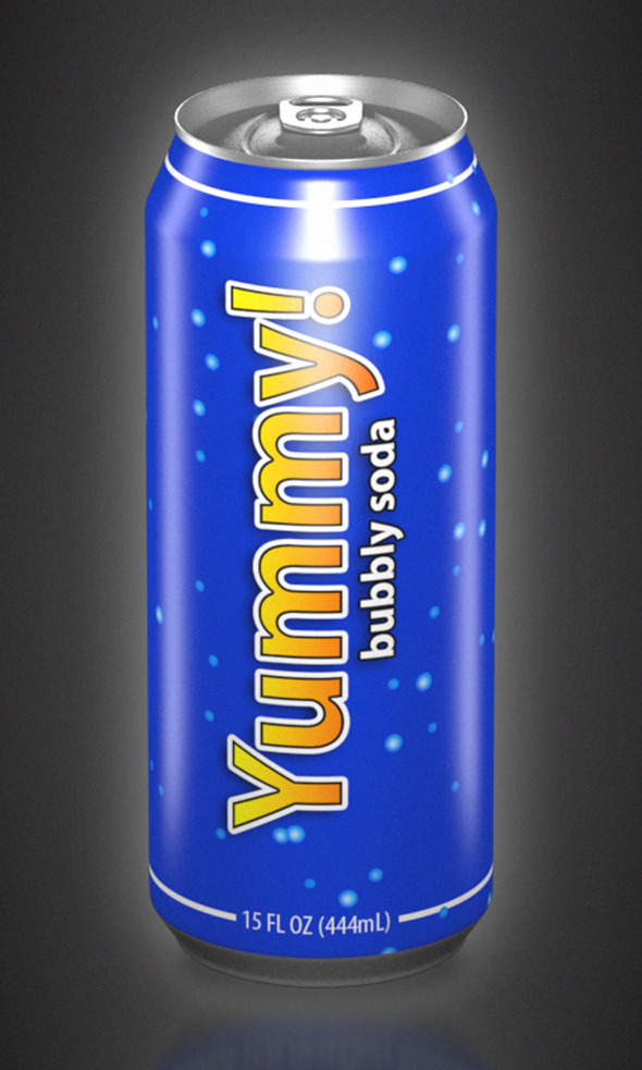 3DOcean Aluminum Can 15oz 3941511