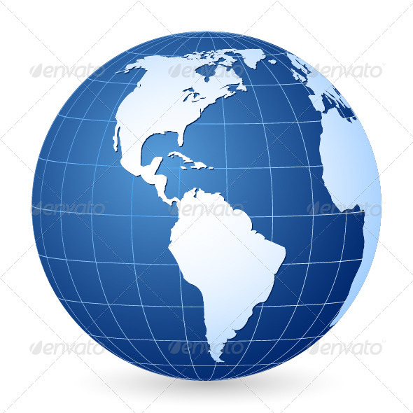 GraphicRiver Blue World Globe 3942410