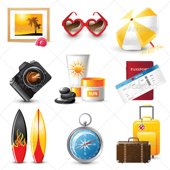 GraphicRiver Travelling Icons 3942435