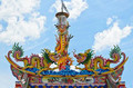 Colorful dragon statue on chinese temple roof - PhotoDune Item for Sale
