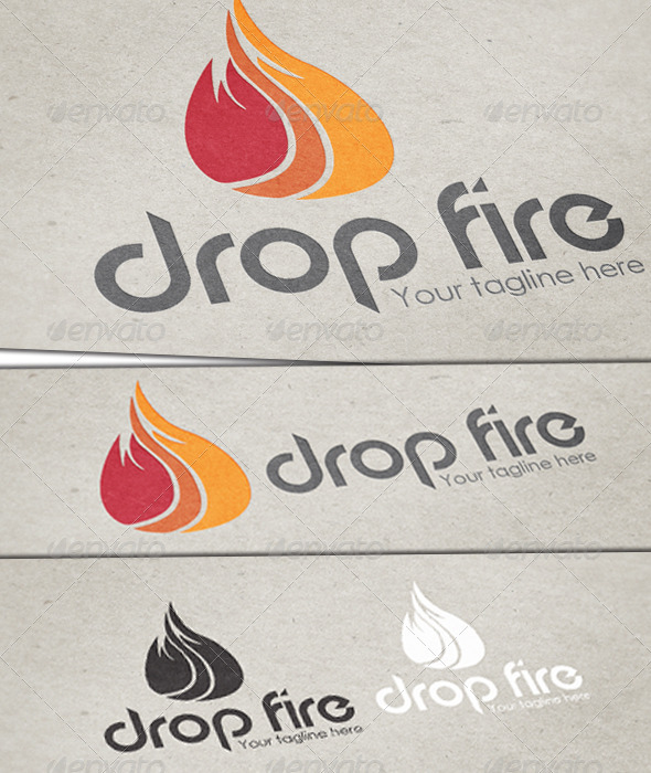 GraphicRiver Drop Fire Logo Template 3671239