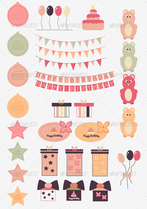 GraphicRiver Happy Birthday Vector Set 3519812
