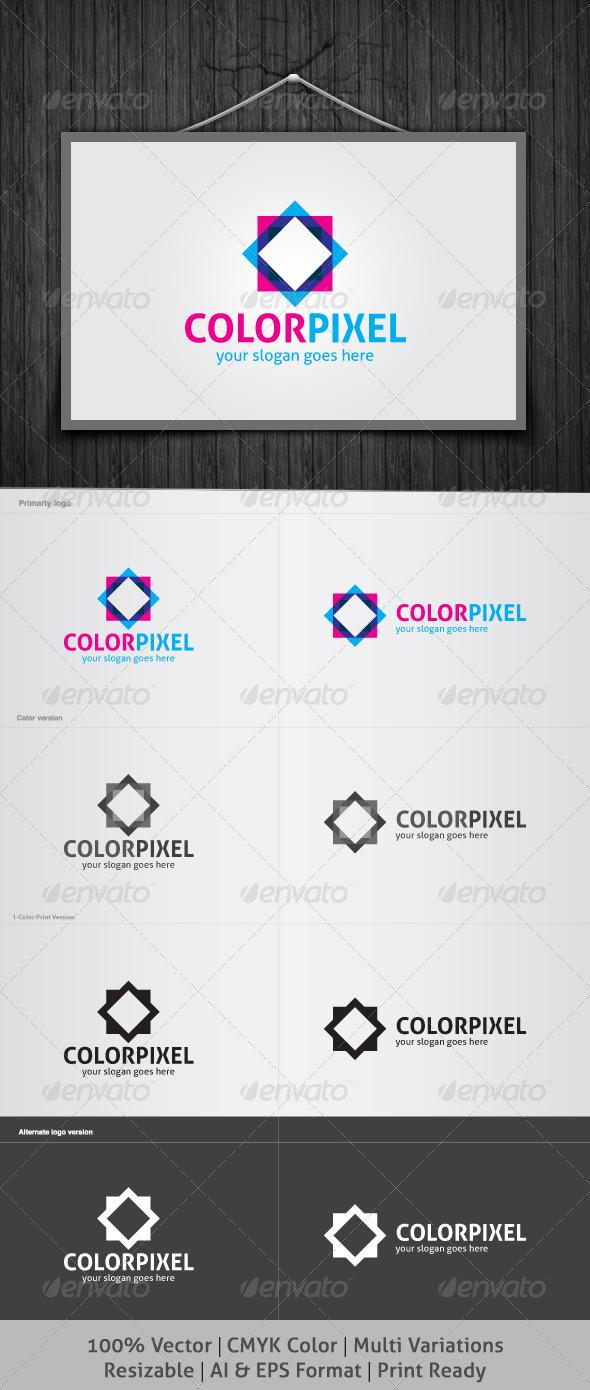 GraphicRiver Color Pixel Logo 3945436