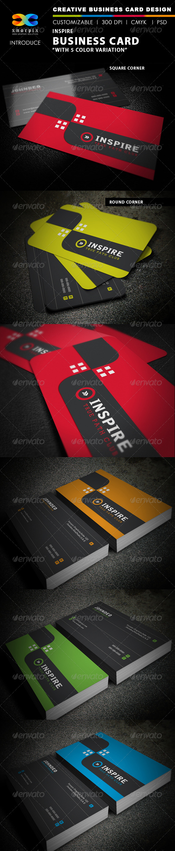 GraphicRiver Inspire Business Card 3945441