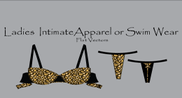 Ladies Intimate Apparel / Swim Wear Vectors