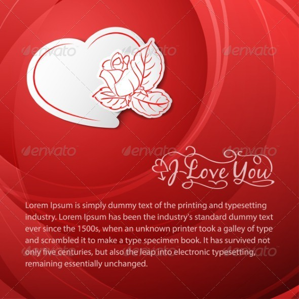 GraphicRiver I love you Valentine s Day Card 3945624