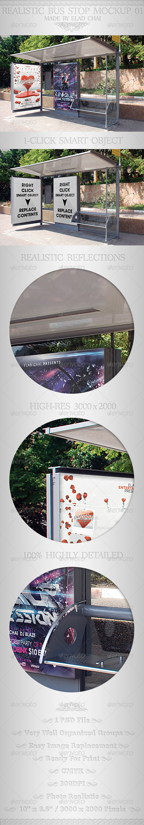 GraphicRiver Realistic Bus Stop Flyer Poster