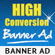 High Conversion Banner Ad P-Graphicriver中文最全的素材分享平台