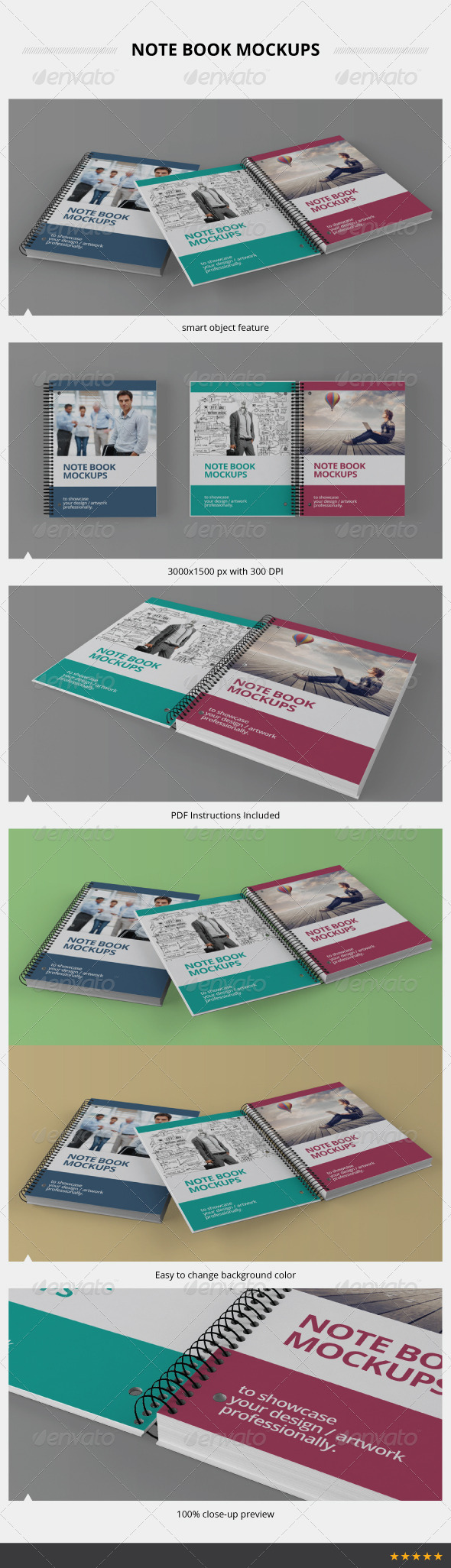 GraphicRiver Note Book Mockups 3945852