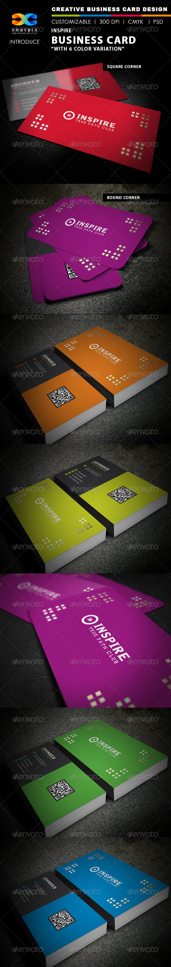 Inspire Business Card - Creative Business Cards