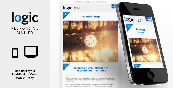 Logic - Responsive Email Newsletter Template