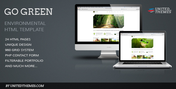 Go Green - Modern Business HTML Template - Environmental Nonprofit