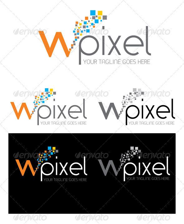 GraphicRiver W Pixel Logo Template 3946201