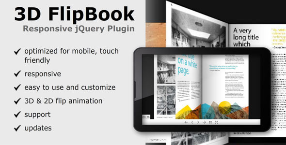 CodeCanyon 3D FlipBook Responsive jQuery Plugin 3946817