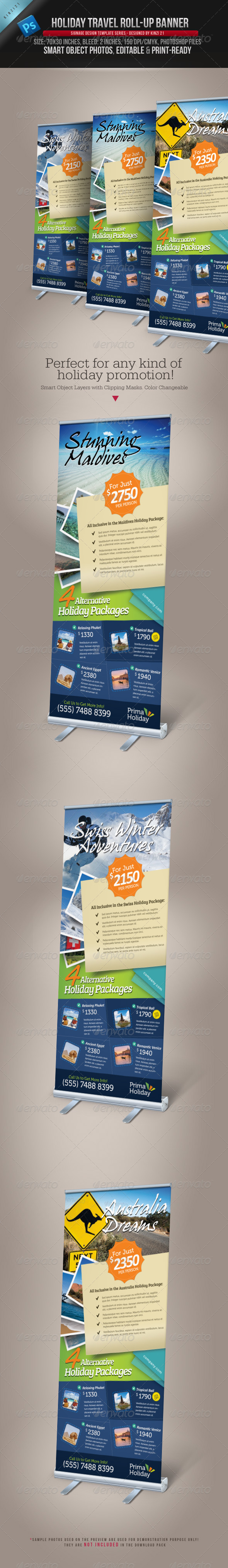 GraphicRiver Holiday Travel Roll-up Banner 3947318