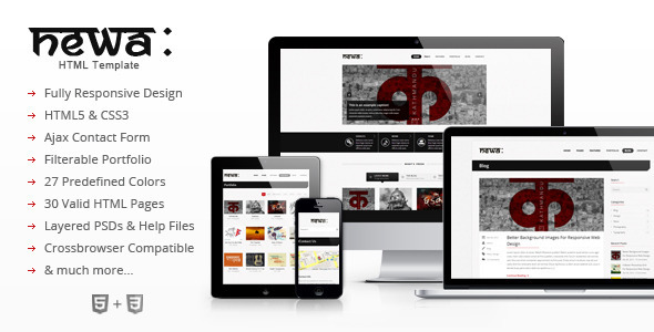 Newa - Responsive HTML Template - Creative Site Templates