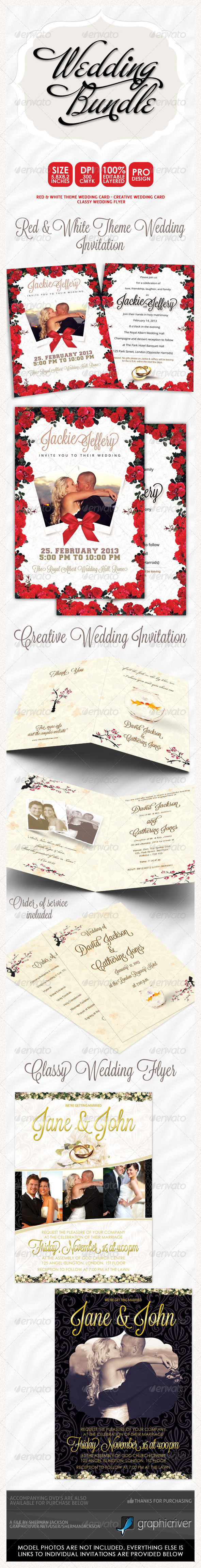 Wedding Invitation Bundle 3  - Weddings Cards & Invites