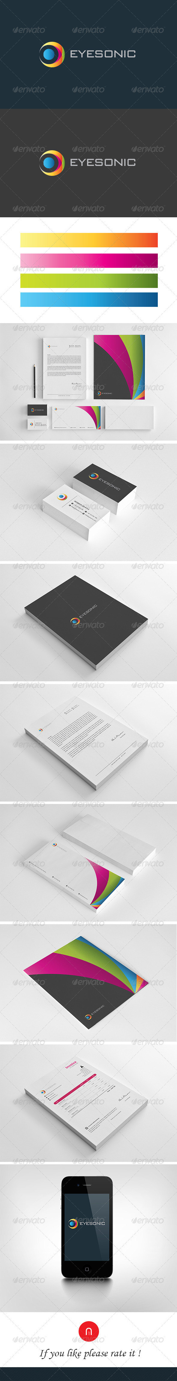 GraphicRiver Stationary & Brand Identity Eyesonic 3948467