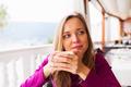 Woman tasting coffee - PhotoDune Item for Sale