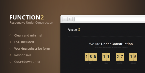 Function2 - Responsive Under Construction Page