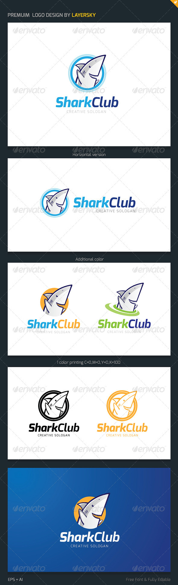 GraphicRiver Shark Club Logo 3948697