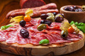 Italian salami with olives - PhotoDune Item for Sale