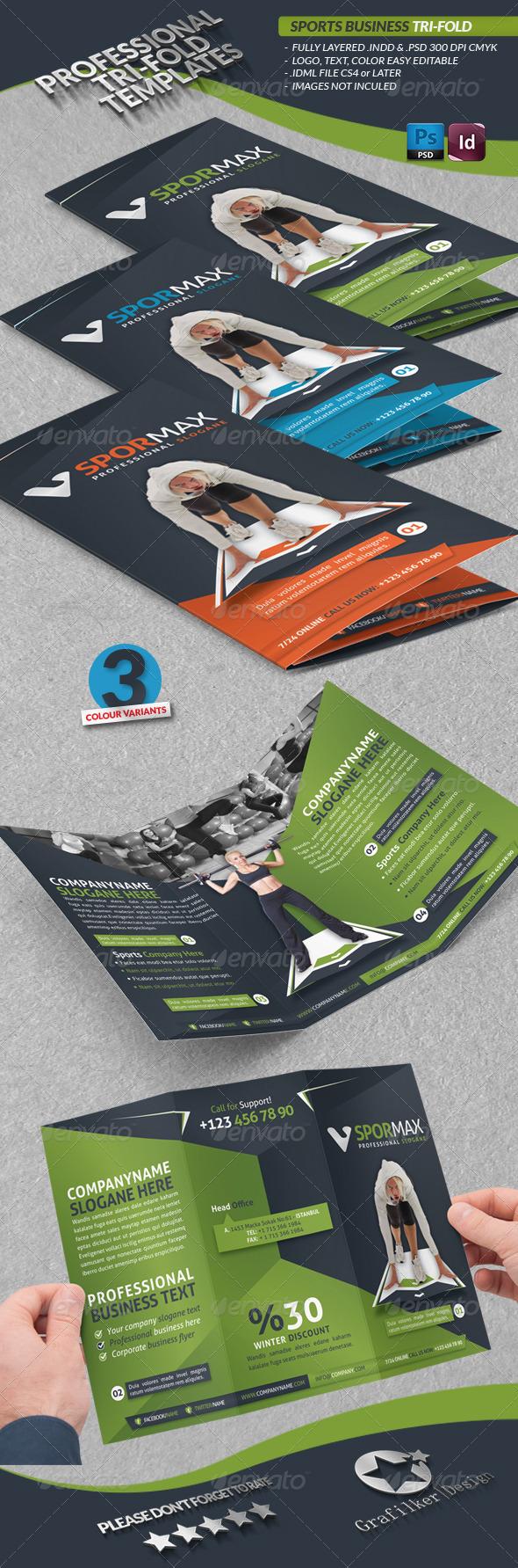 GraphicRiver Sports Business Tri-fold 3948835
