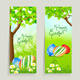 Set of Easter Cards with Grass and Tree - GraphicRiver Item for Sale