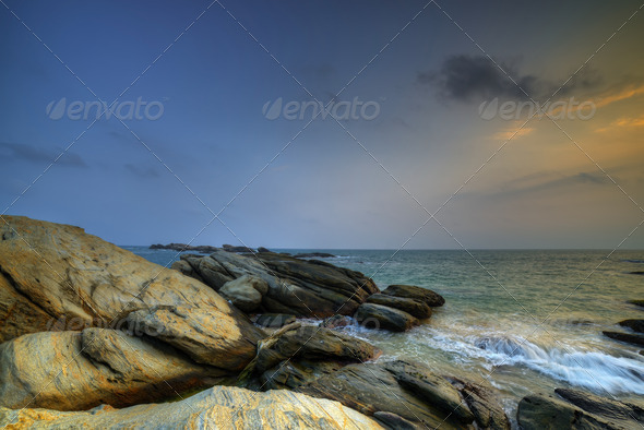 Coast of the Indian ocean - Stock Photo - Images