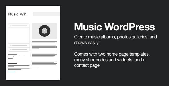 Music Wordpress Template - For Musicians / Artists - Creative WordPress