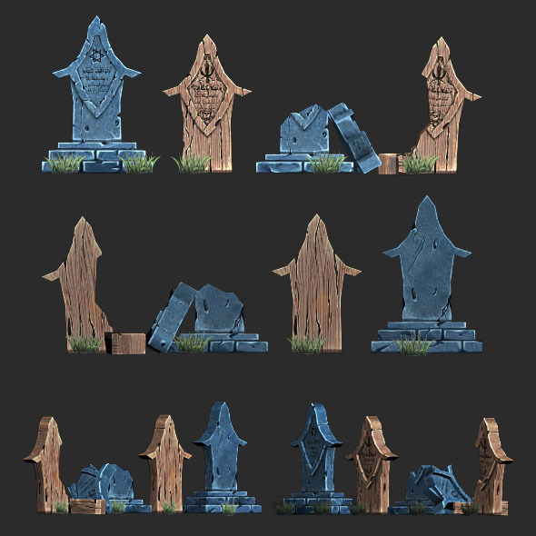 3DOcean Low Poly Gravestone 1 3950598