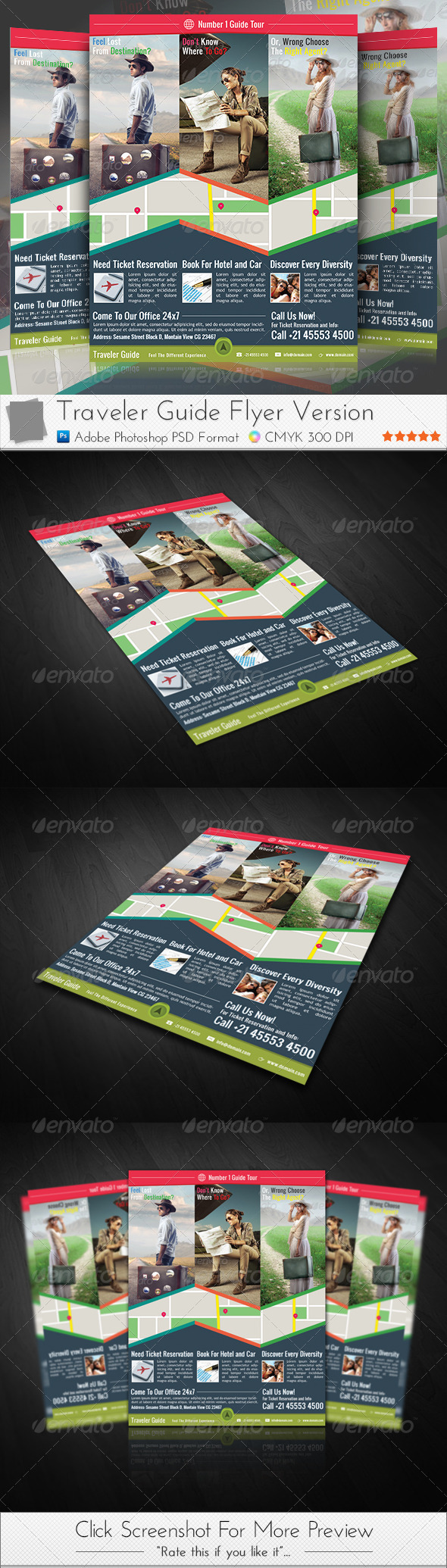 GraphicRiver Traveler Guide Flyer 3950775