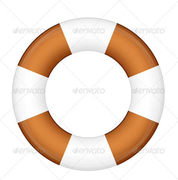 PhotoDune A life buoy for safety at sea isolated over white background 3963693