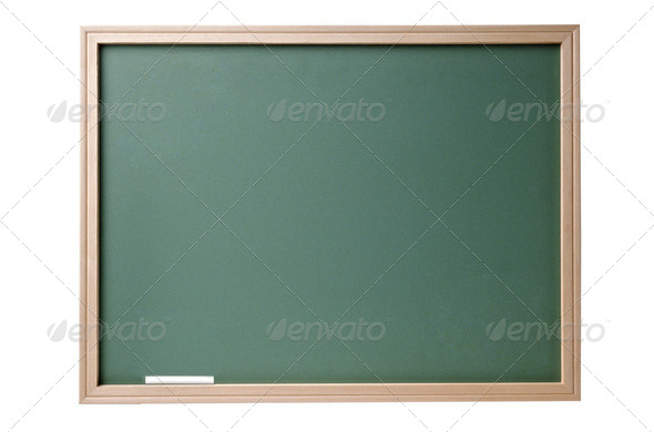 PhotoDune Chalkboard blackboard with frame isolated 3963987
