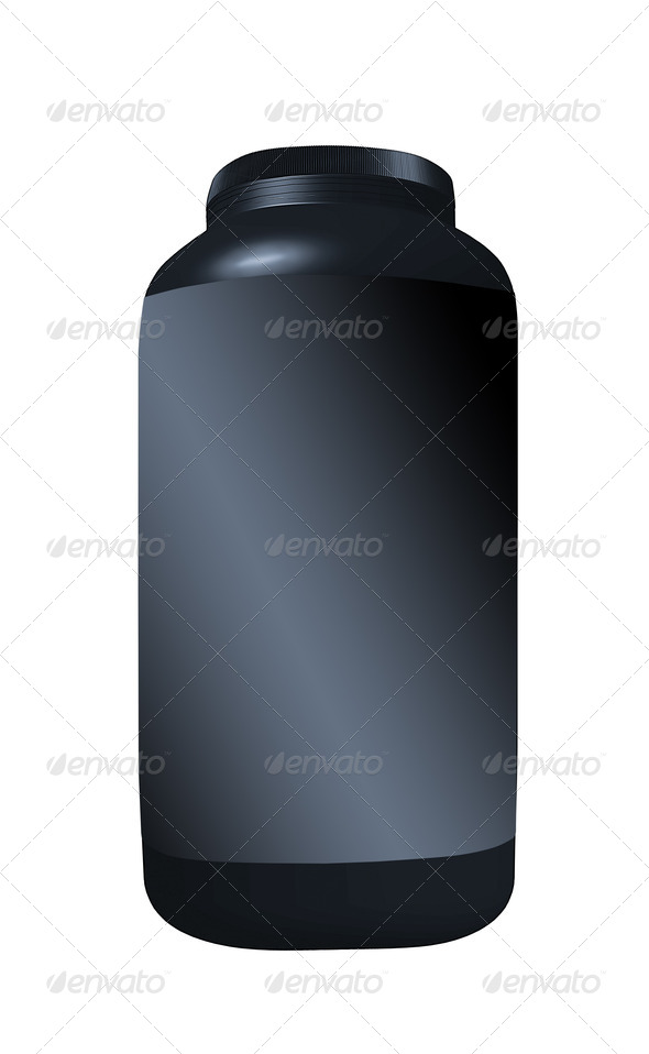 PhotoDune Black Cream container isolated over the white background 3963988
