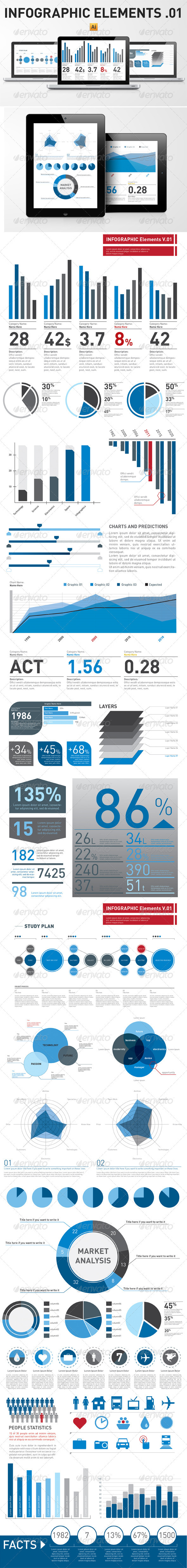 Infographic Elements Template Pack 01 - Infographics