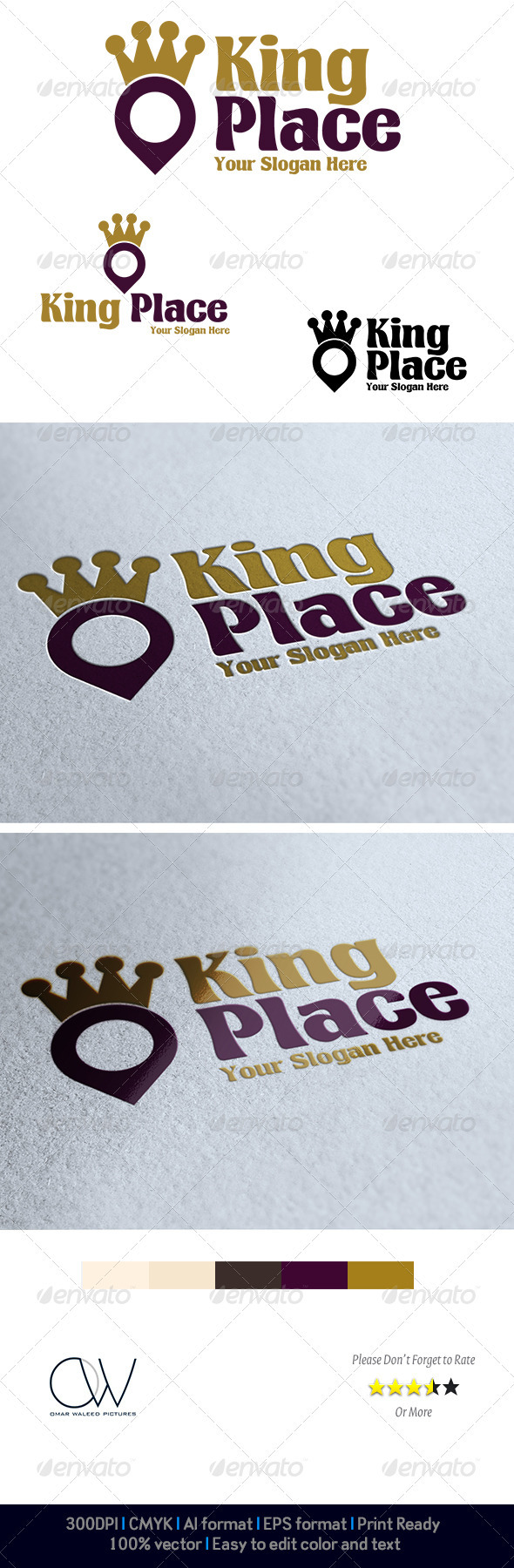 GraphicRiver King Place Logo 3951713