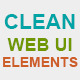 Clean Web UI Elements - GraphicRiver Item for Sale