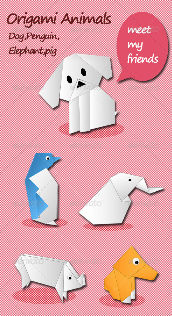GraphicRiver Origami Animals My Friend 3952255