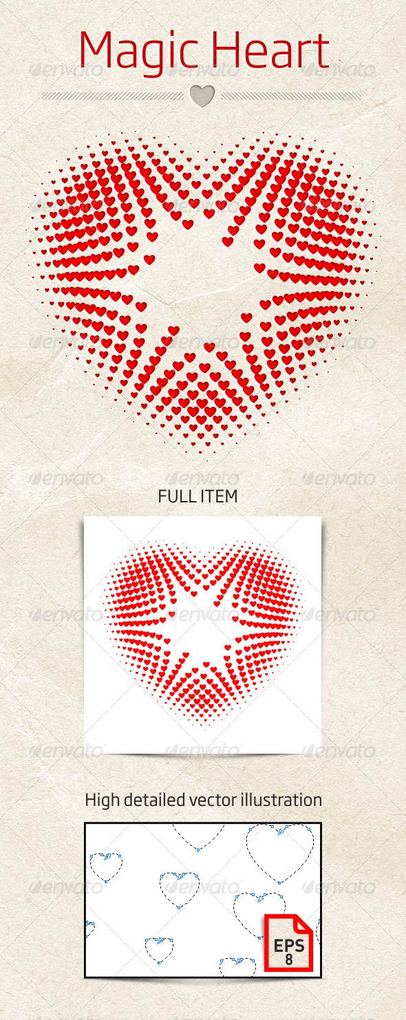 GraphicRiver Magic Heart Vector Illustration 3952368
