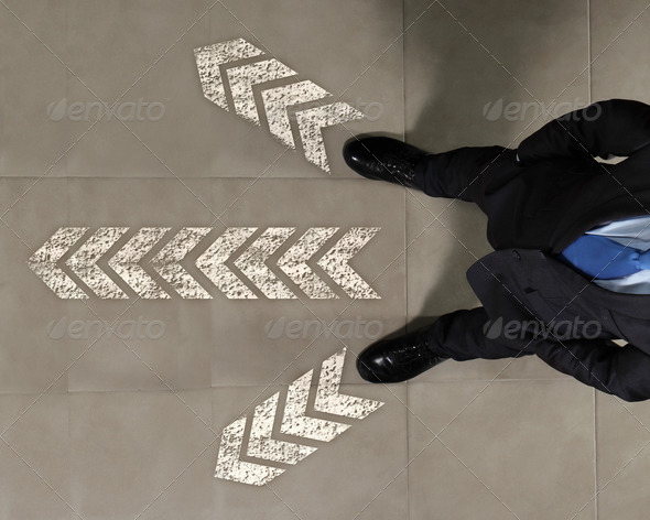 Image of businessman top view - Stock Photo - Images