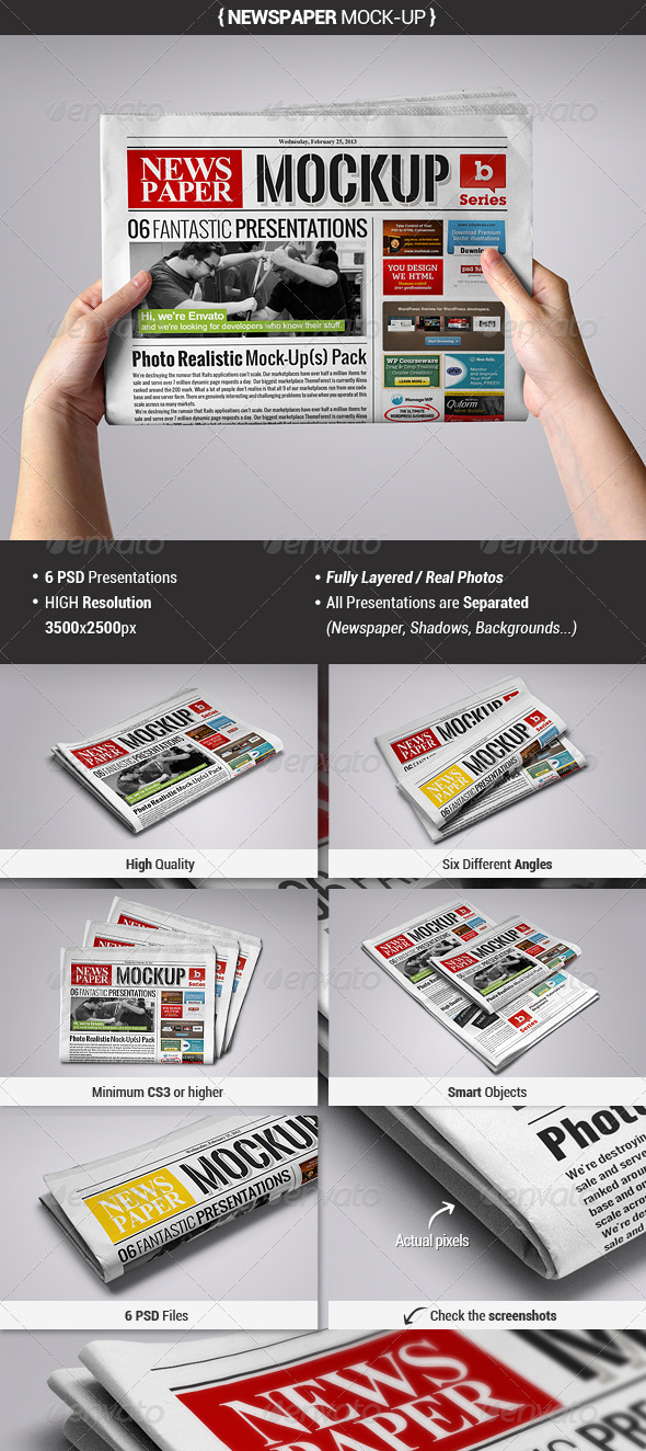 GraphicRiver Newspaper Mock-Up 3952953
