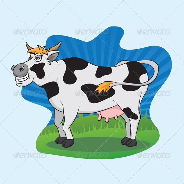 GraphicRiver Cow Smile 3618842