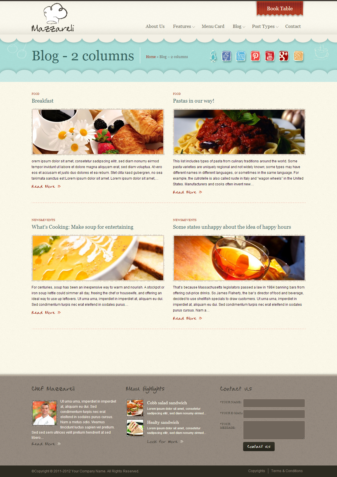 Mazzareli WordPress Theme