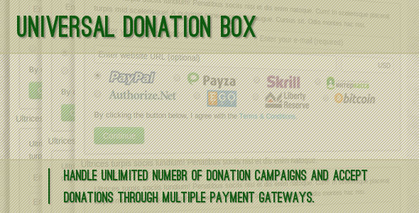 Universal Donation Box - CodeCanyon Item for Sale