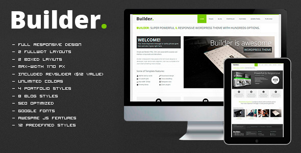 BUILDER - Responsive HTML Template