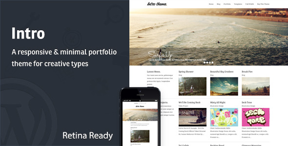 Intro - Responsive Portfolio WordPress Theme