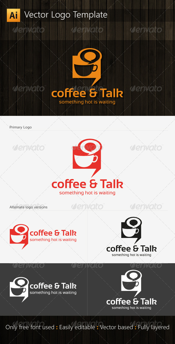 Coffee and Talk Logo - Food Logo Templates